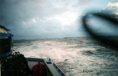 Really rough seas.