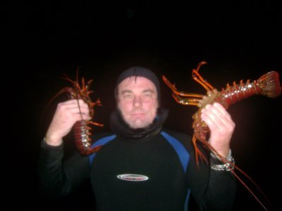 Me and tonight's lobsters.