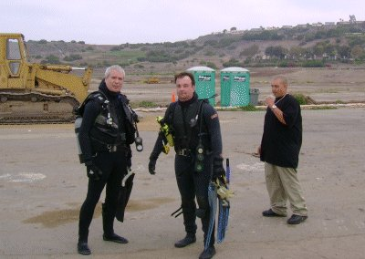 Ron and Me, ready for diving.