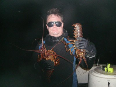 I pose with my catch of bugs.