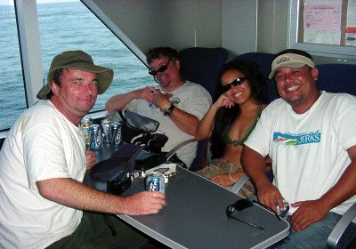 Me, John, Jodi and Jim try and relax after a stressful day!