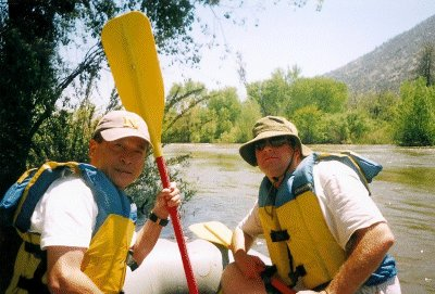 Me and Ed ready for our turn down the river.