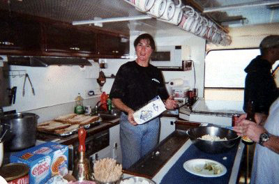 Debbie, the cook of the Bottomscratcher.