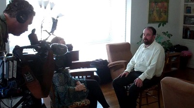 Being interviewed by NBC World News.