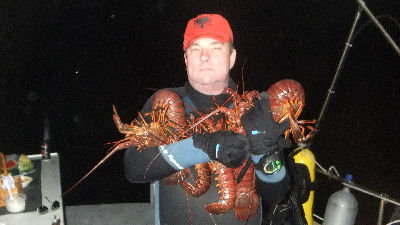 Me with my catch for the night.