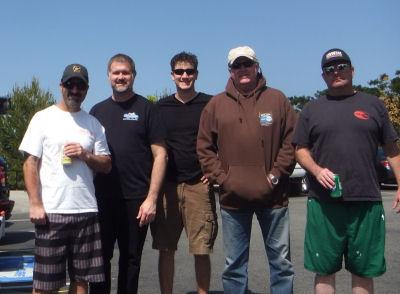 The crew - Randy, Ben, Alex, Reverend Al and Me.