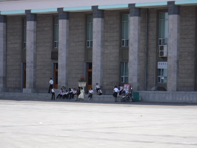 North Koreans enjoy the day.
