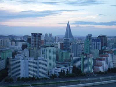 View of Pyongyang from our hotel.