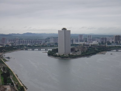 Our hotel from Juche tower.