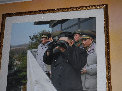 Dear Leader Kim Jung Un spies on South Korea.