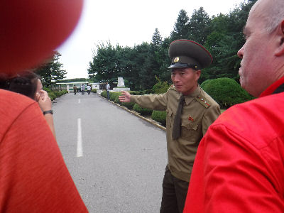 North Korean Army leads the way.