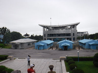 The DMZ from the North Korean side.