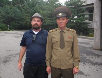 Me with a North Korean army guy.