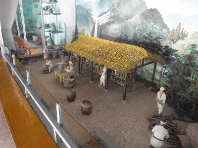 Diorama of an old Korean village.