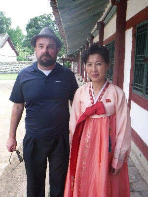 Me with a hot North Korean chick.