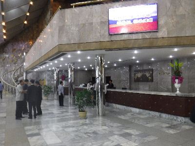 Yanggakdo International Hotel lobby.