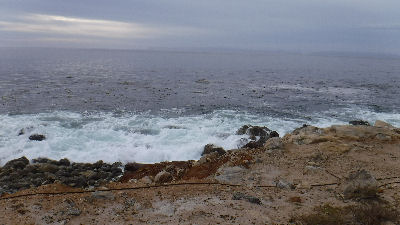 Foam off the point at Terranea Resort.
