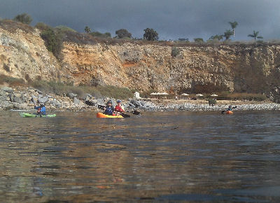 Kayakers off of Terranea Resort.