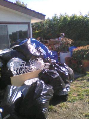 Backyard junk.