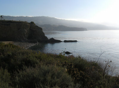 The calm cove at Terranea.