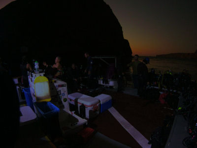 At 7:30 PM, the gates opened for our night dive off of Sutil Island.