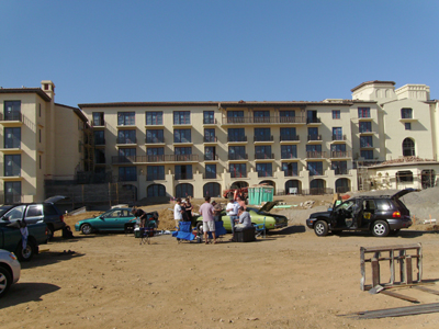 Another view of the hotel that's under construction.
