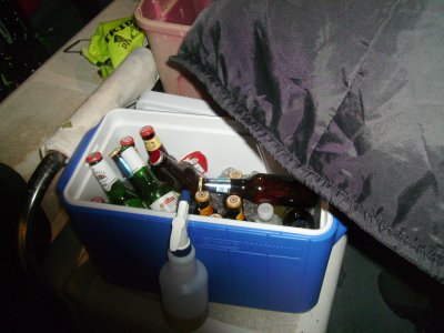 After the last dive, we broke out the deco bottles.