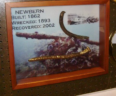 A little display from the Newbern wreck off of Old Marineland.
