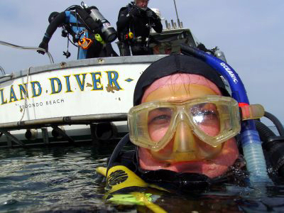 Self portrait off the back of the Island Diver.