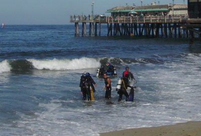 The Divemasters were kept busy.