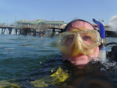 Me off of Redondo Pier, TwinDuct is in the background.