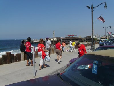 Non divers cleaned the beach and surrounding areas.