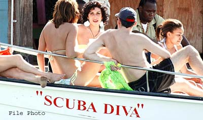 Amy Winehouse on a SCUBA Boat