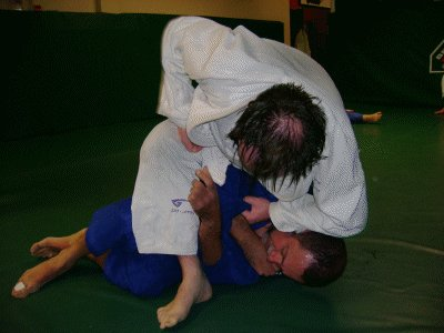 I try and go for an arm bar.