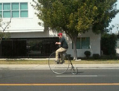 Bike riding to stay in shape.