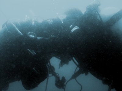 Divers practiced Polish Buddy Breathing.