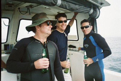 My Dive buddies and I drink beer to help out gassing - just kidding.