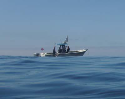 A dive boat.