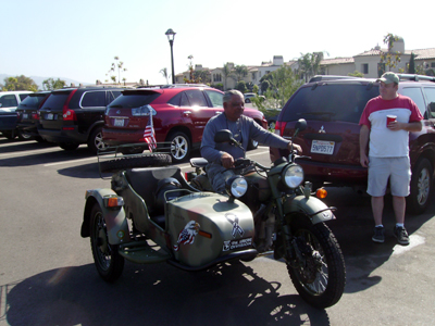 Francisco on his Ural Russian made motorcycle.