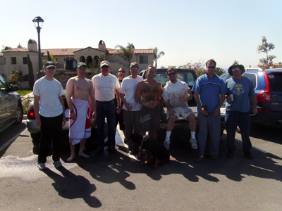 From left to right - Eric, Chris from Michigan, Reverend Al, Drysuit Greg, Ted, Dive Bum Don, The Painter Guy, SC Joe, Me.