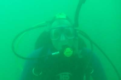 Dennis underwater