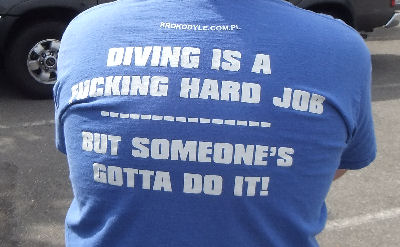 Diving is a fucking hard job, but someone's got to do it!