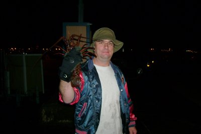 I pose with my monster catch of the night.