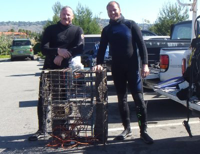 A Lobster Trap recovered.