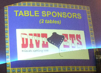 Divevets table sponsors!