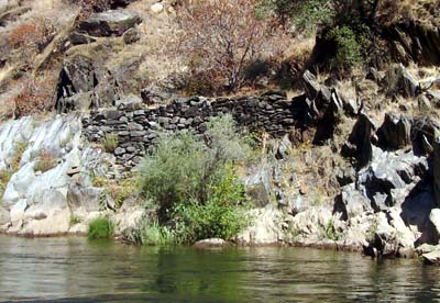 A lot of the old Gold Mining trails from the California Gold Rush still remained on the river.