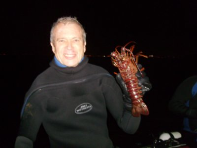 A happy lobster hunter!