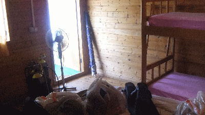 Inside my bungalow.