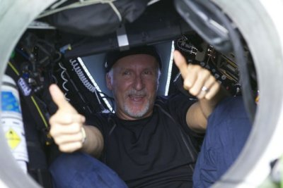James Cameron makes world record submarine dive.