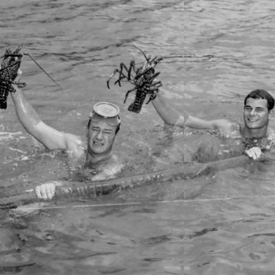 John Wayne lobster hunting.